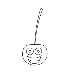 figure kawaii happy cherry icon vector image