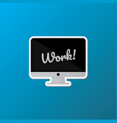 isolated desktop computer icon lettering quote on vector image vector image