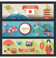 Japan banners design vector image