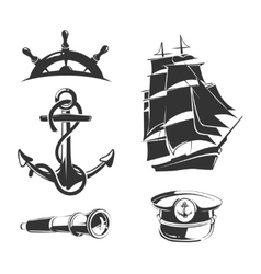nautical elements for vintage labels vector image vector image