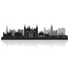 Peterborough city skyline silhouette vector image vector image