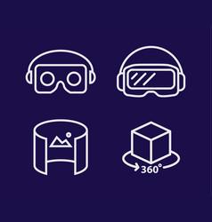 vr glasses for smartphone line vector image vector image