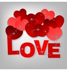10 pinned heart vector