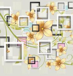 3d wall background design interior wallpaper vector