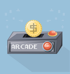 arcade video game design vector image