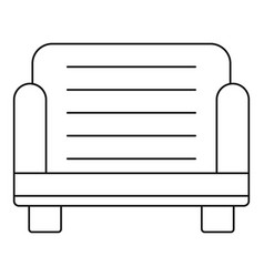 armchair icon outline style vector image