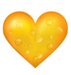 beer heart vector image