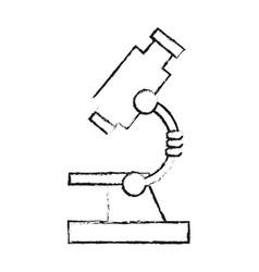 Black blurred silhouette cartoon microscope vector