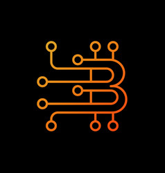 Blockchain orange logo element or icon in vector
