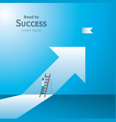 business concept of achievement success with vector image