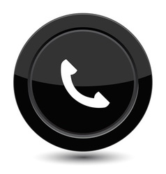 Button with phone vector image
