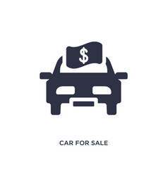 car for sale icon on white background simple vector image