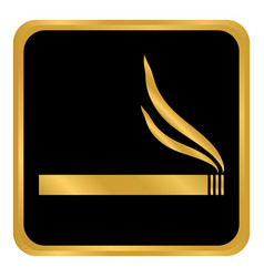 cigarette button on white vector image