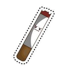 Cigarette character funny icon vector