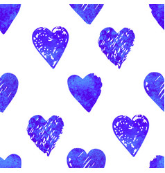 colorful seamless pattern with hearts vector image