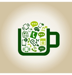 Communication a cup vector