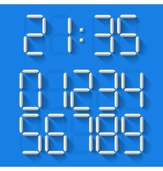 Digital Clock Numbers vector image