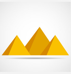egypt pyramids icon isolated on a white vector image