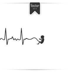 embryo phase bapregnancy icon vector image