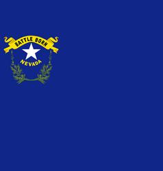 Flag nevada usa vector