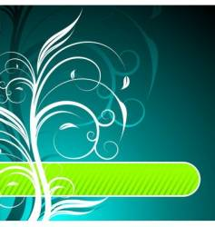 floral background with text space vector image