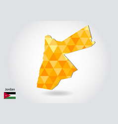geometric polygonal style map of jordan low poly vector image