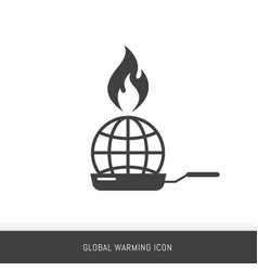 global warming infographics template vector image