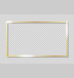 Golden frame on transparent background vector