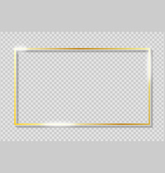 golden frame on transparent background with vector image