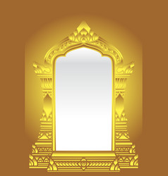 Golden temple arch traditional or vintage design vector