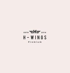 h letter hero wing logo emblem vector image