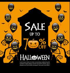 halloween sale banner template vector image