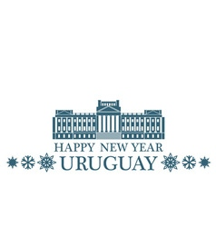 Happy New Year Uruguay vector