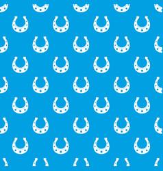 horseshoe pattern seamless blue vector image
