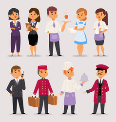 Hotel professions people workers receptionist vector