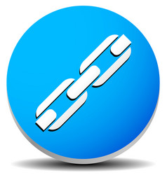 Icon with chain-link symbol vector