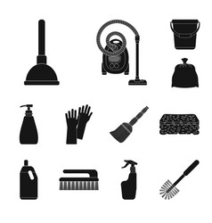 isolated object of cleaning and service icon set vector image