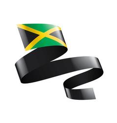 Jamaica flag on a white vector