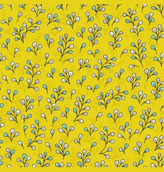 leaves background floral seamless vector image