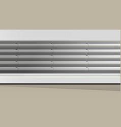 long empty supermarket wall refrigator vector image