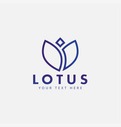 lotus flower logo design template isolated vector image