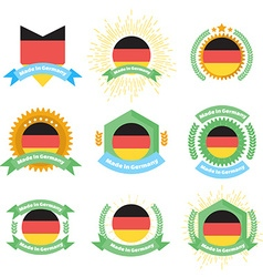 Made in germany labels and badges made in germany vector