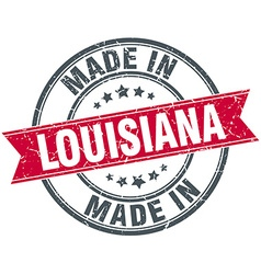 Made in Louisiana red round vintage stamp vector