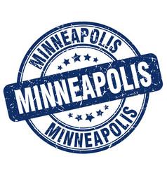 Minneapolis blue grunge round vintage rubber stamp vector