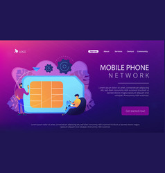 Mobile phones card concept vector