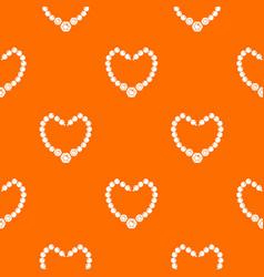 necklace pattern orange vector image