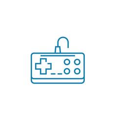 nintendo gamepad linear icon concept nintendo vector image