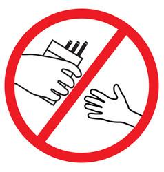 no cigarettes sign vector image