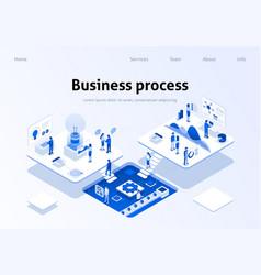 optimized business process teamwork landing page vector image