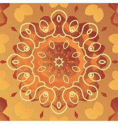 Orient patter with stylized flower vector